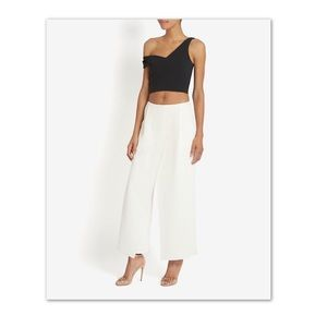 NICHOLAS One Shoulder Crop Top